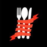 Restaurantmenüschablone im Retrostilvektor Stockfotos