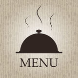 Restaurantmenüschablonen-vektorabbildung Stockbild