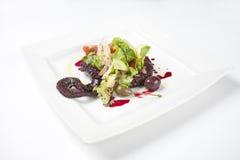 Restaurantoctopus en pijlinktvis royalty-vrije stock foto