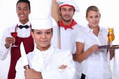 Restaurantpersonal lizenzfreie stockfotos