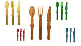 Restaurantpictogram, teken, 3D illustratie, beste pictogram Stock Fotografie