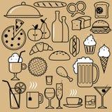 Restaurantpictogrammen stock illustratie