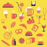 Restaurantpictogrammen vector illustratie
