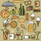 Restaurantpictogrammen royalty-vrije illustratie