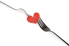 Restaurantreeks, het diner van de valentijnskaartdag over witte achtergrond Royalty-vrije Stock Foto