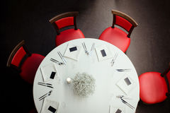 Restaurantrundtisch Stockfotografie