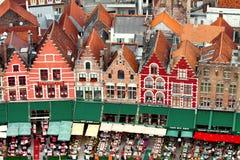 Restaurants à Bruges Images libres de droits