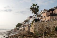Restaurants à la plage de Taghazout Photos stock