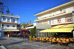 Restaurants in Asprovalta,Greece Stock Image