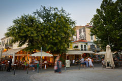 Restaurants in Athens. Royalty Free Stock Photography