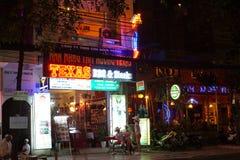 Restaurants and bars in Nha Trang stock image