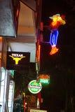 Restaurants and bars in Nha Trang stock photography