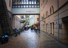 Restaurants and bars in Saxon capital. Royalty Free Stock Photography