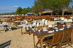 Restaurants on the beach Royalty Free Stock Photography