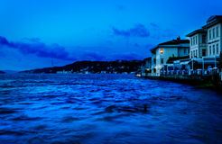 Restaurants On The Bosphorus Stock Photo