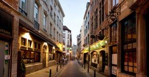 Restaurants in Brussel Royalty-vrije Stock Afbeeldingen