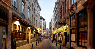 Restaurants in Brussels Royalty Free Stock Images