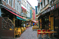 Restaurants of Brussels Stock Images