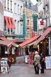Restaurants in Bussels, Belgium Stock Images