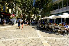 The restaurants of Cassis Stock Images