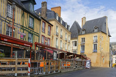 Restaurants on city hall place in Le Mans Royalty Free Stock Image