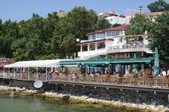 Restaurants de bord de mer Image libre de droits