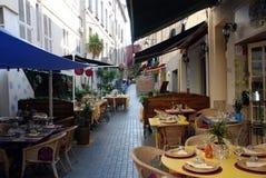 Restaurants in de Provence royalty-vrije stock afbeelding