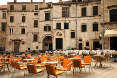 Restaurants in Dubrovnik, Croatia Stock Photos