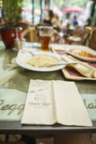 Restaurants en parc d'Europa dans la rouille, Allemagne Image stock