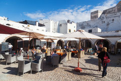 Restaurants in Essaouira Royalty Free Stock Photography