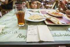 Restaurants in Europa Park in Rust, Germany Stock Photography