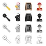Restaurants, fast ,food and other web icon in cartoon style.Accessories, food, cafes icons in set collection. Royalty Free Stock Photography