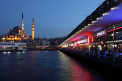 Restaurants at Galata Bridge Stock Photos