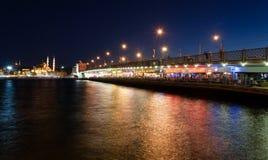 Restaurants at Galata Bridge Royalty Free Stock Photo