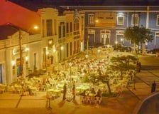 Restaurants in historischem Mittel-Fortaleza Brasilien stockfotografie