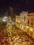 Restaurants in historischem Mittel-Fortaleza Brasilien lizenzfreie stockbilder