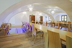 Restaurants in the hotel. Dining room Royalty Free Stock Photography
