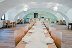 Restaurants in the hotel. Restaurant, dining room in the hotel Royalty Free Stock Photo