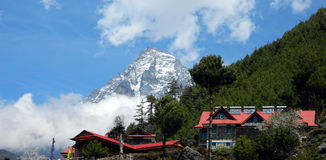 Restaurants and Hotels in the Khumbu, Nepal Stock Image