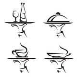 Restaurants Icon Set Stock Images