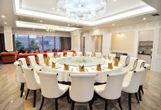 The restaurants large dining table. Eastphoto, tukuchina, The restaurants large dining table Stock Photography