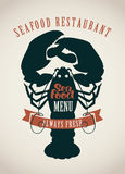 Restaurants menu or seafood Royalty Free Stock Photo