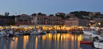 Restaurants Molyvos de port Photo stock
