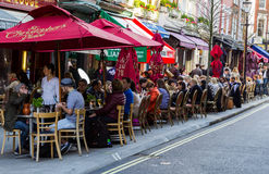 Restaurants near St Christophers Place Royalty Free Stock Image