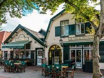Restaurants oosten-Vlieland, Holland Stock Foto