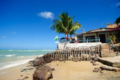 Restaurants in Paria da Pipa Brazil Royalty Free Stock Images