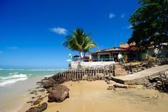 Restaurants in Paria da Pipa Brazil Stock Photo