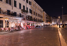 Restaurants at Piazza Navona in Rome Royalty Free Stock Image