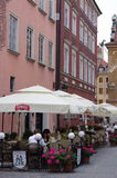 Restaurants in the Polish capital Warsaw Royalty Free Stock Photography