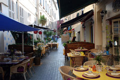 Restaurants in the provence Royalty Free Stock Image